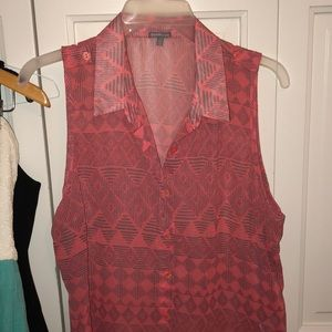 Sleeveless see-through blouse